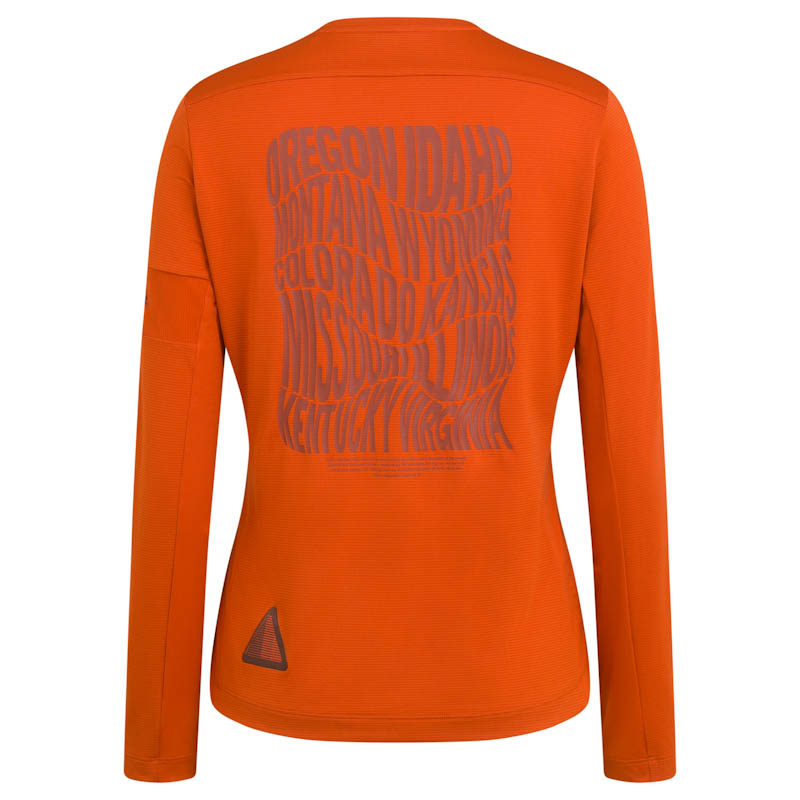 Rapha Nomad women's collection, technical long sleeve shirt