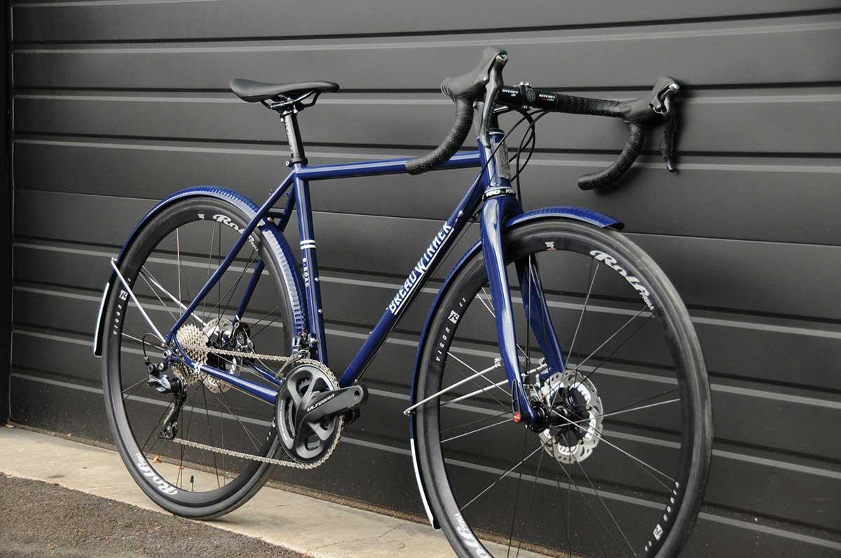 breadwinner cycles blue steel road frame