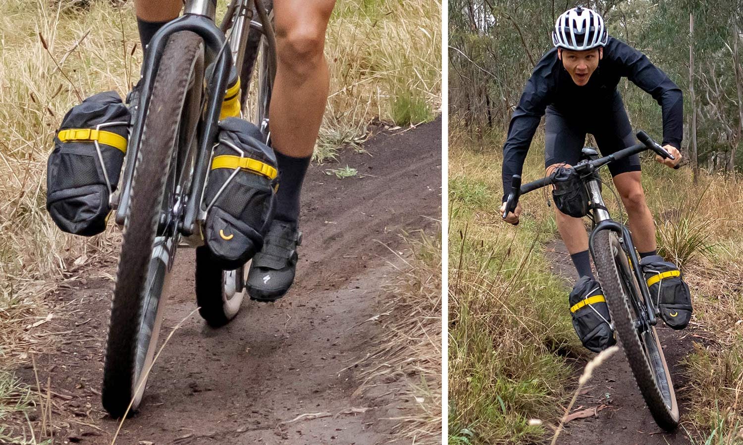 """Curve GMX+ Carbon monster gravel off-road adventure bikepacking fork for 29x3"""" tires, ride testing"""
