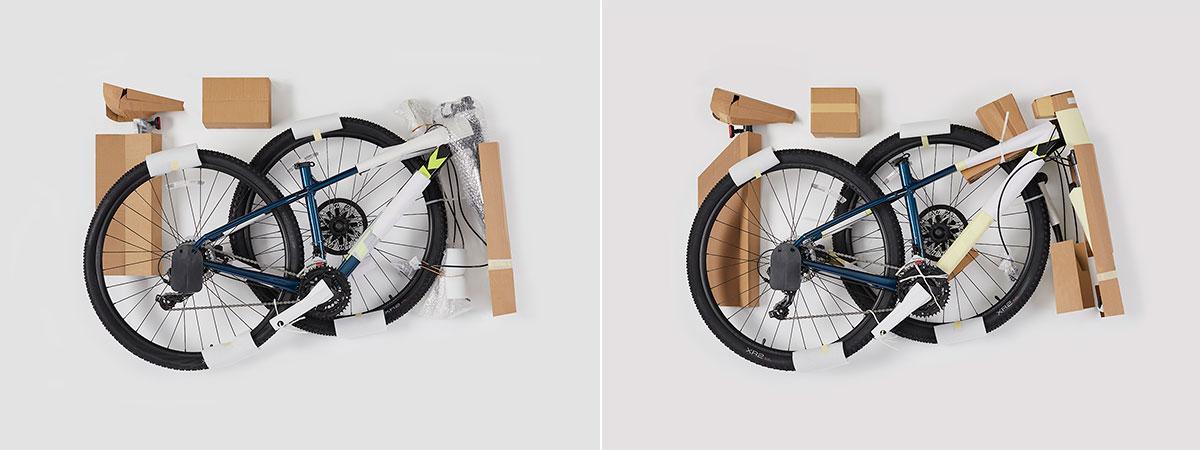 trek marlin bike packaging plastic reduction