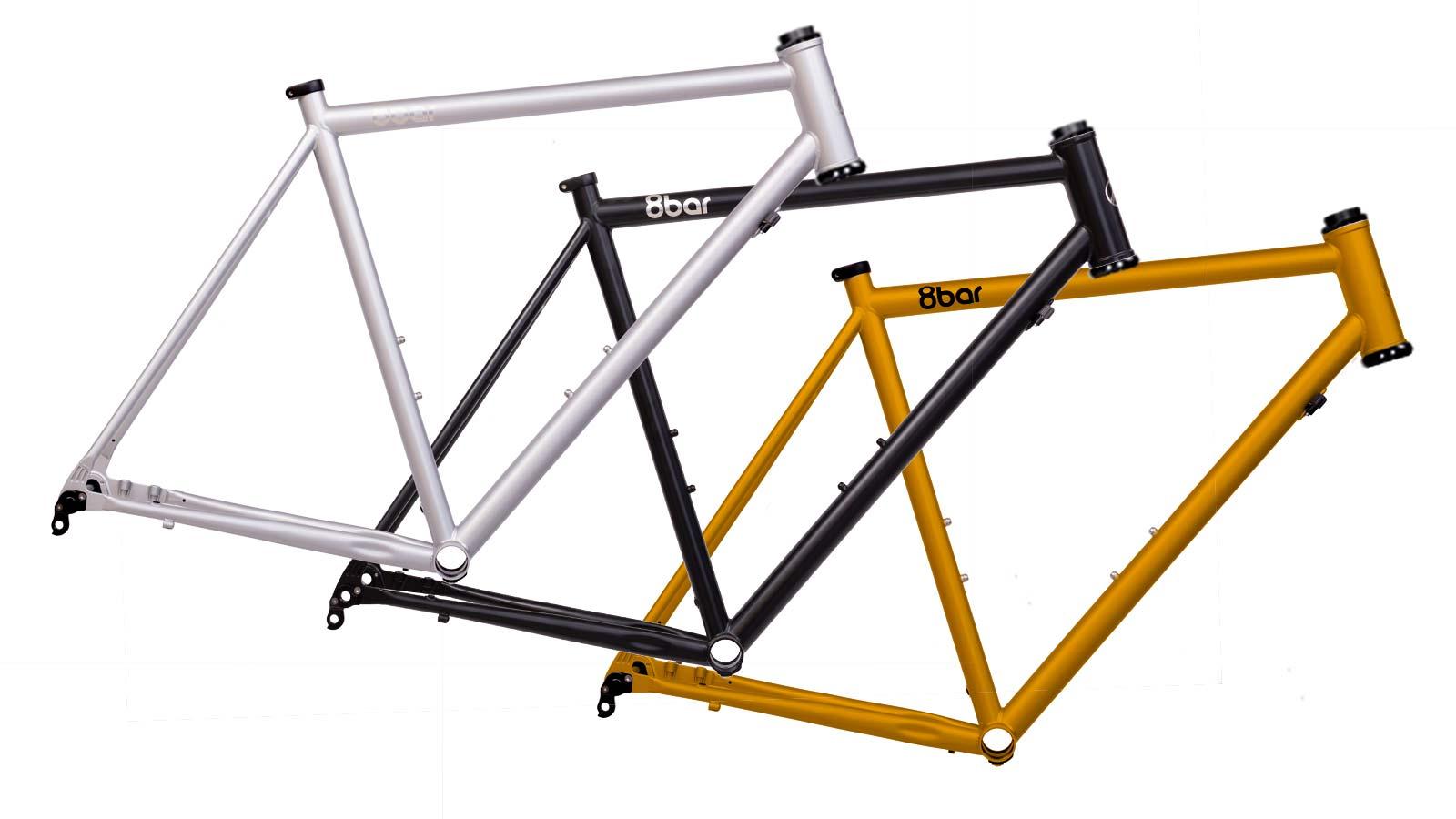 8bar Kronprinz Steel v1 affordable modern disc brake road bike, color options