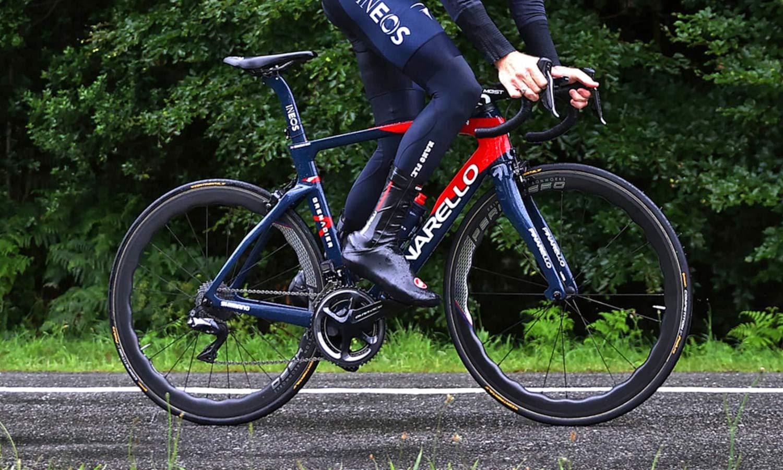 Princeton CarbonWorks Peak 4550 Launch Edition lightweight carbon aero road wheels, Team INEOS Grenadiers Tour de France tubular training