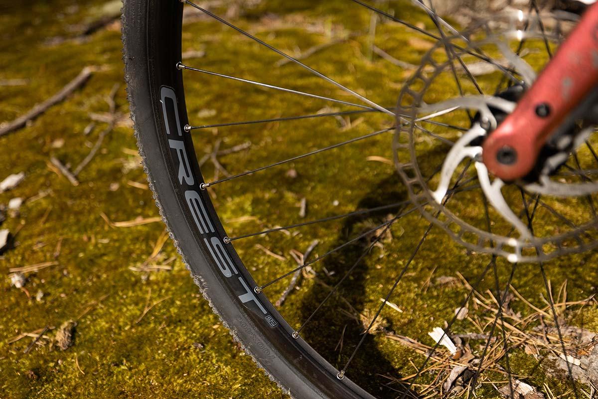stans crest s2 gravek wheelset 40mm tires