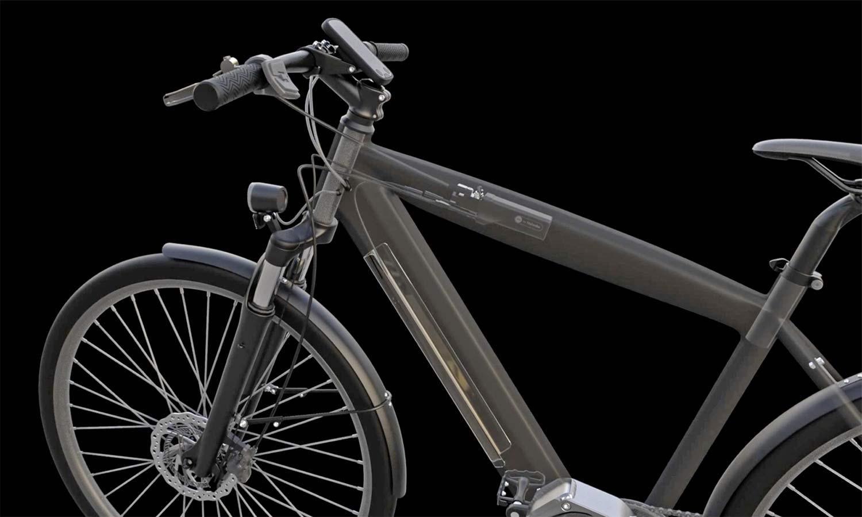 Blubrake ABS G2 bicycle anti-lock braking system, smaller lighter bike antilock brakes,x-ray inside