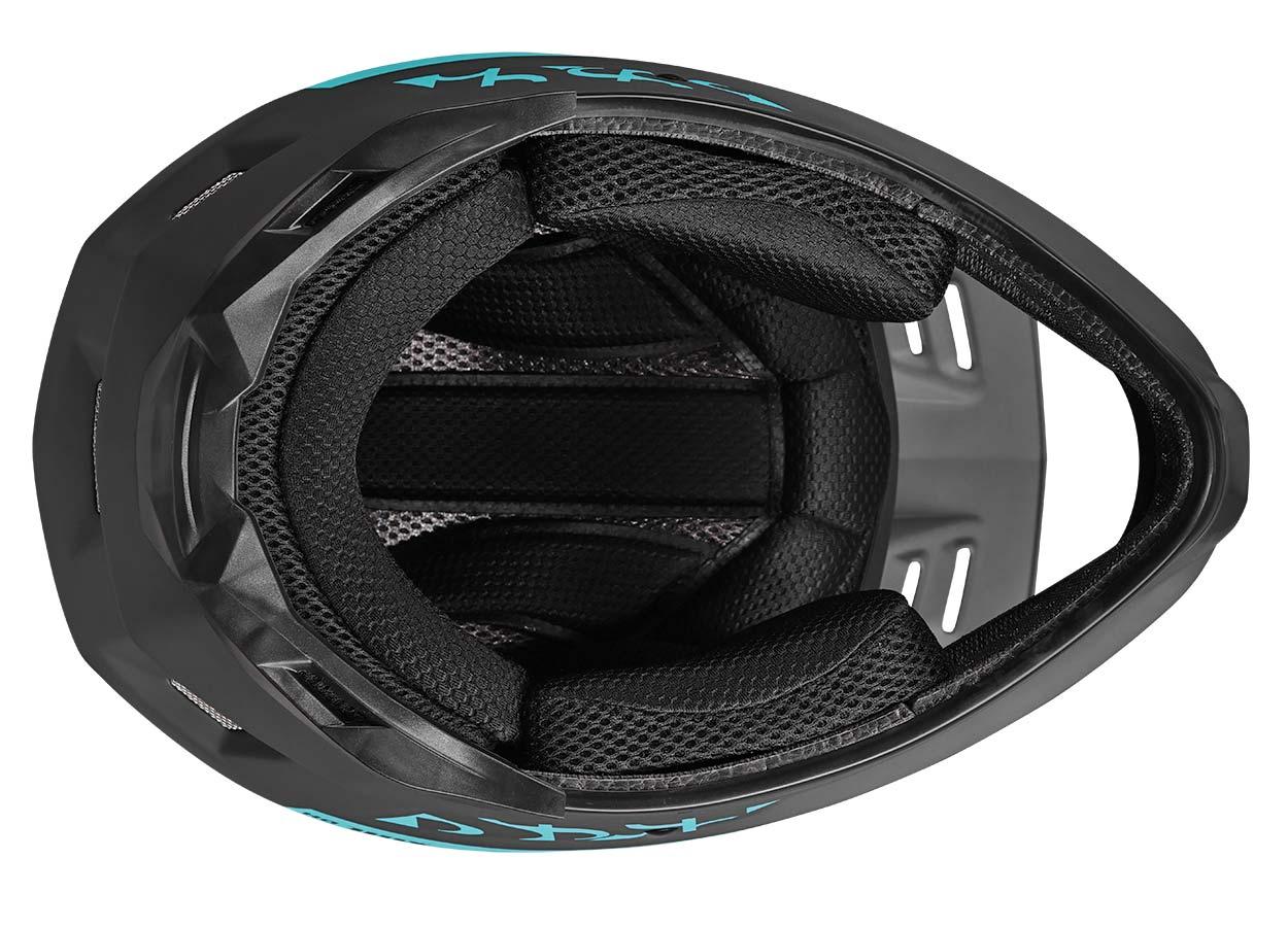 iXS Xult DH full face helmet, lightweight downhill race protection,bottom