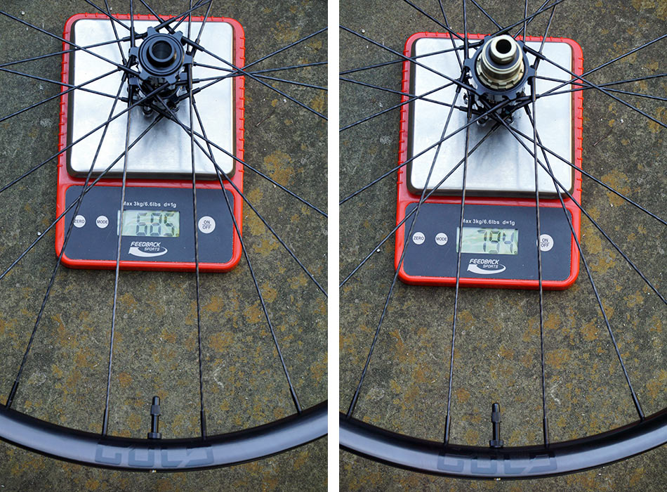 gulo composites GME30 enduro mountain bike wheels actual weights on a scale