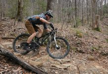 gulo composites gme30 enduro mountain bike wheels riding action for long term review
