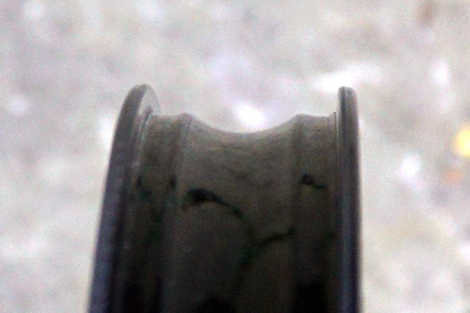 closeup detail of Gulo Composites carbon fiber mountain bike rim