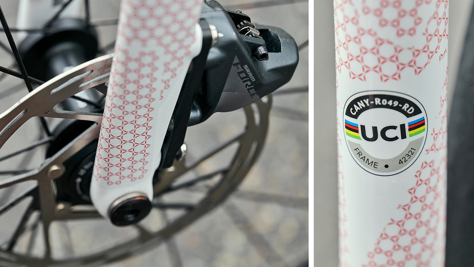 Canyon Ultimate CF SLX 8 Disc TDF limited edition carbon road bike, photo by Tino Pohlman, 108th Tour de France,details
