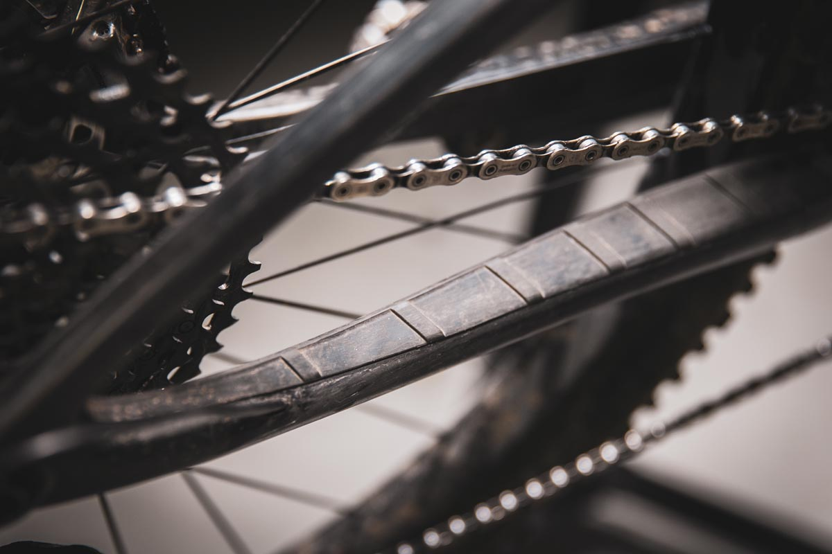 Ibis Exie raised chainstay protector