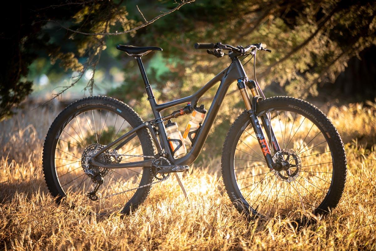 Ibis Exie mountain bike profile in the sun