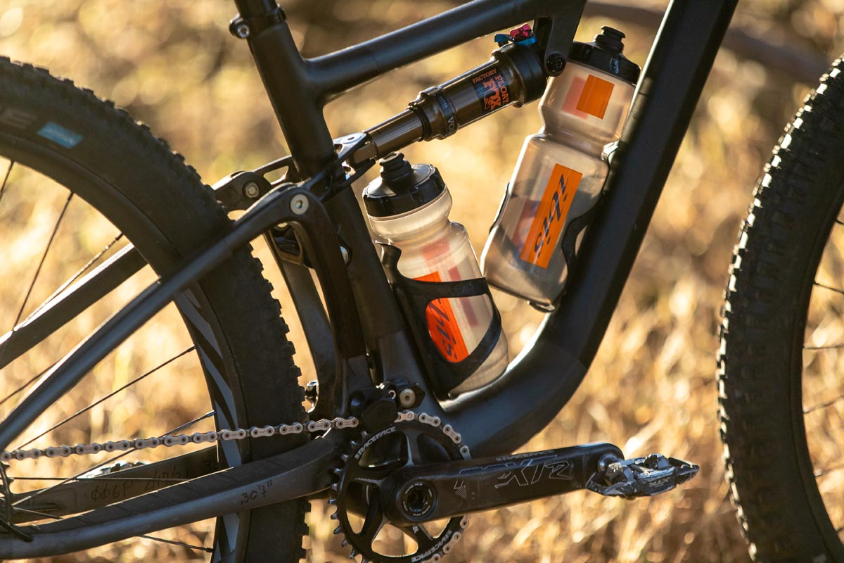 Ibis Exie has room for two water bottle cages
