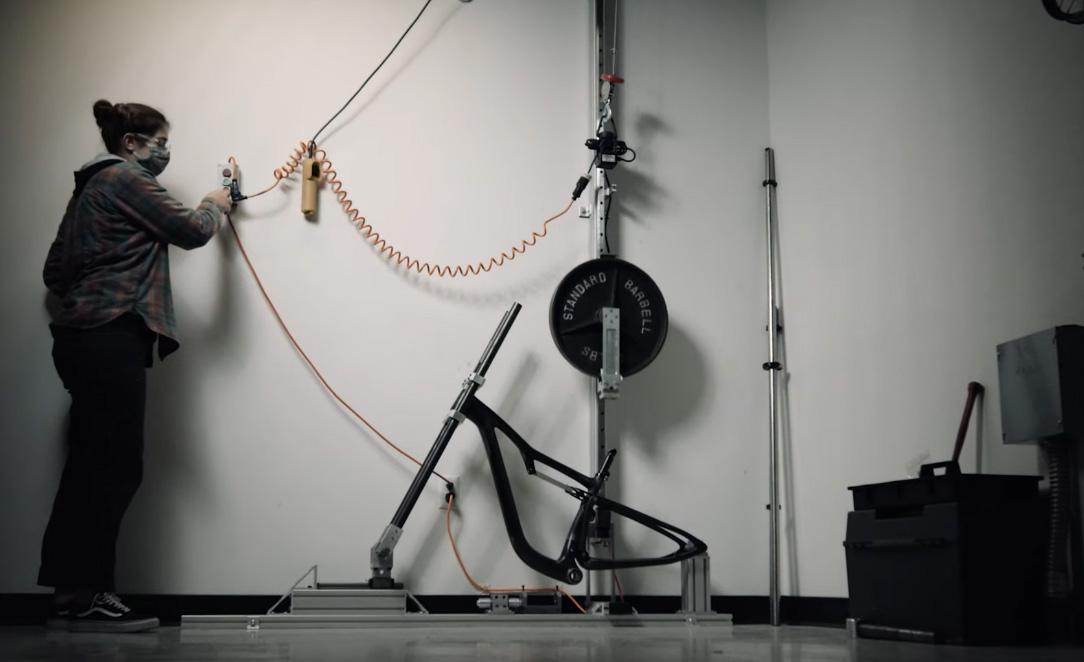 Ibis Exie carbon frame test facility