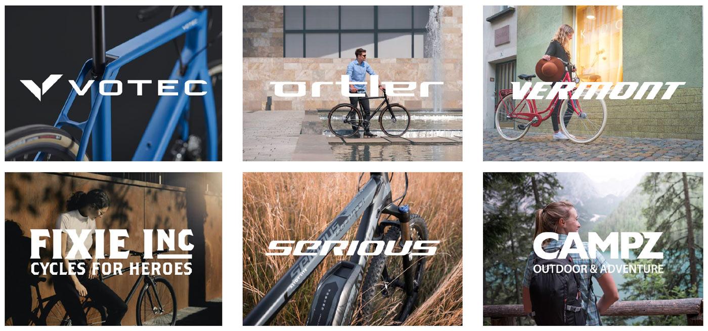 bike brand logos for bikester's brands