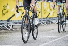 Scope Cycling prototype lightweight carbon climbers wheels, disc brake road tubeless at 2021 Tour de France, Team DSM, photo by Kristof Ramon, Kramon