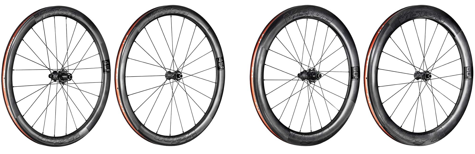 Vision Metron 45 60 SL Disc lightweight wide aero carbon road wheels, wheel options
