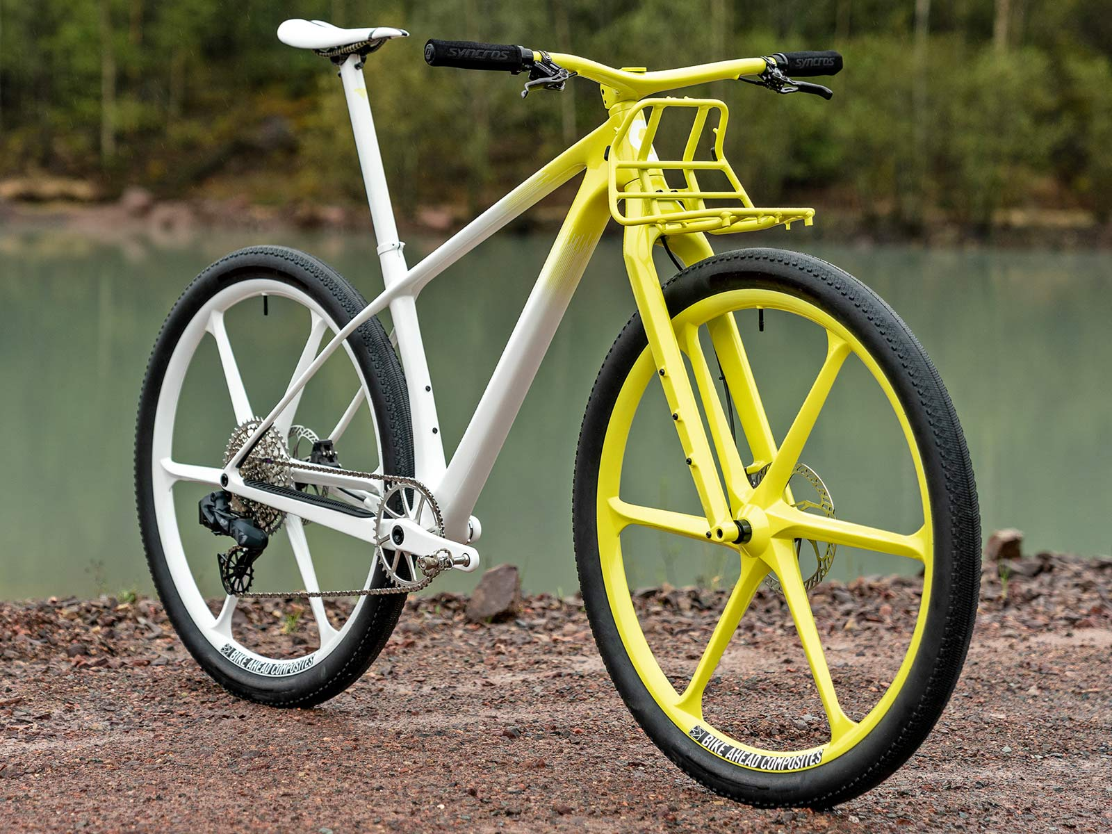 Dangerholm mellow yellow Scott Scale Gravel custom project bike, Gustav Gullholm dream bike builder, photo by Andreas Timfalt,angled