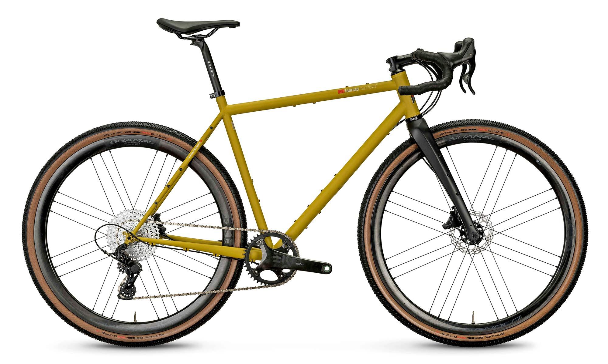 VSF Fahrradmanufaktur GX-1200 limited edition steel gravel bike, made-in-Germany, complete