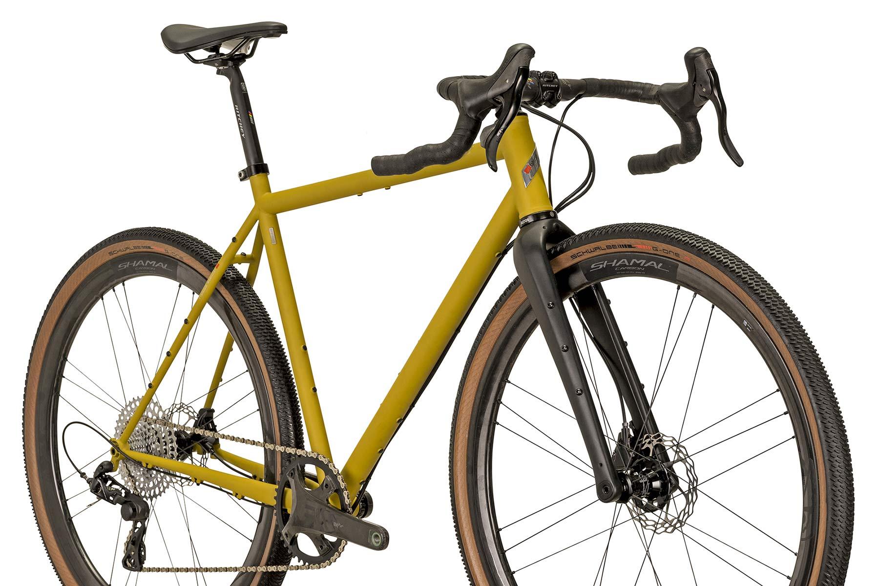 VSF Fahrradmanufaktur GX-1200 limited edition steel gravel bike, made-in-Germany, angled