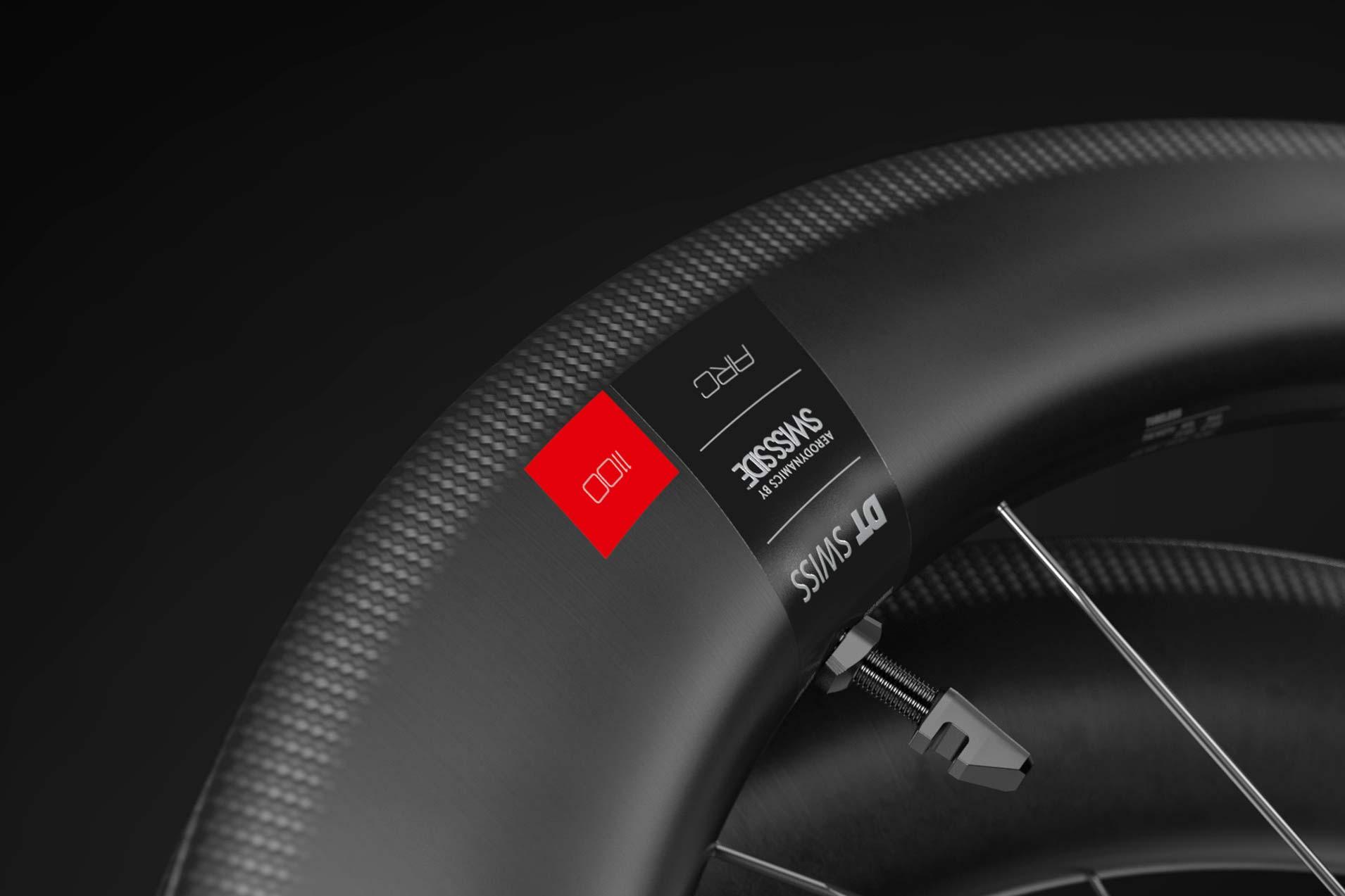 DT Swiss ARC rim brake aero carbon tubeless road wheels,rim braking surface detail
