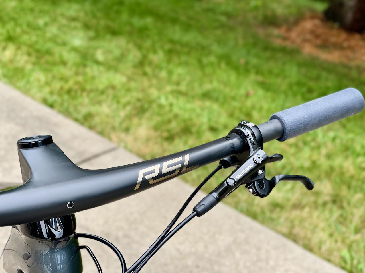Bontrager RSL MTB Bars installed on bike front view