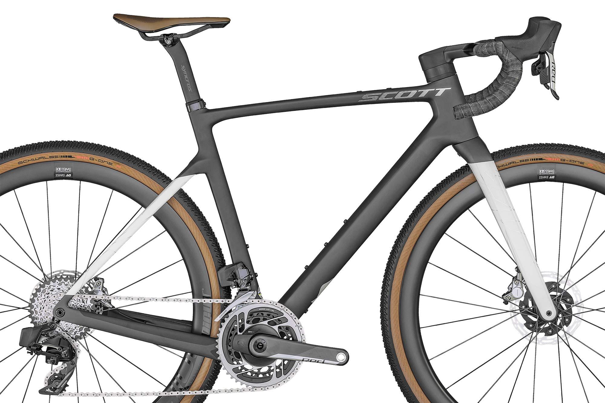 2022 Scott Addict Gravel aero integrated carbon gravel bike,Tuned HMX detail