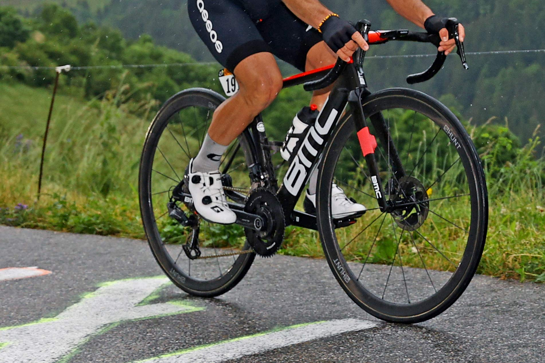 Hunt 36 UD Carbon Spoke Disc Tubular, ultra lightweight 1151g prototype road wheels, Tour de Frnce Stage 8 photos by Damian Murphy ©GettySport, riding