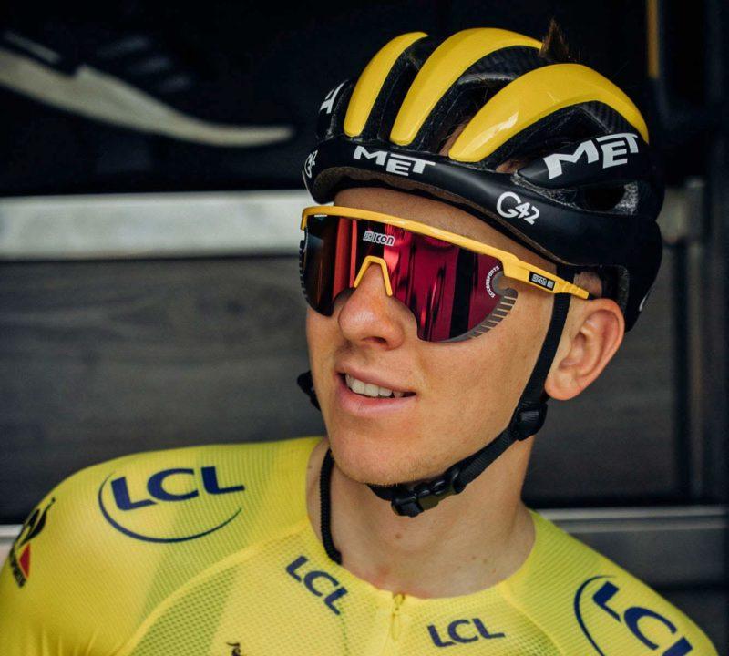 Scicon AeroWing Lamon sunglasses, Tadej Pogačar Tour de France yellow jersey
