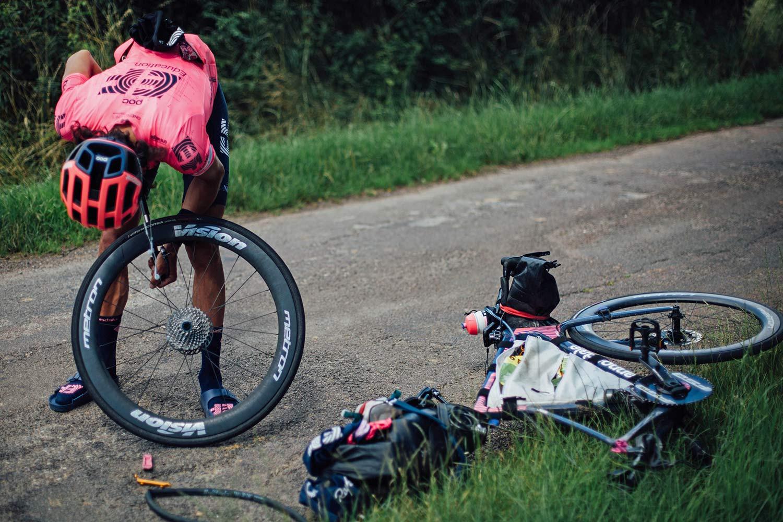 Lachlan Morton Alt Tour de France_ultra distance bikepacking charity ride, photo by Rapha, Day6