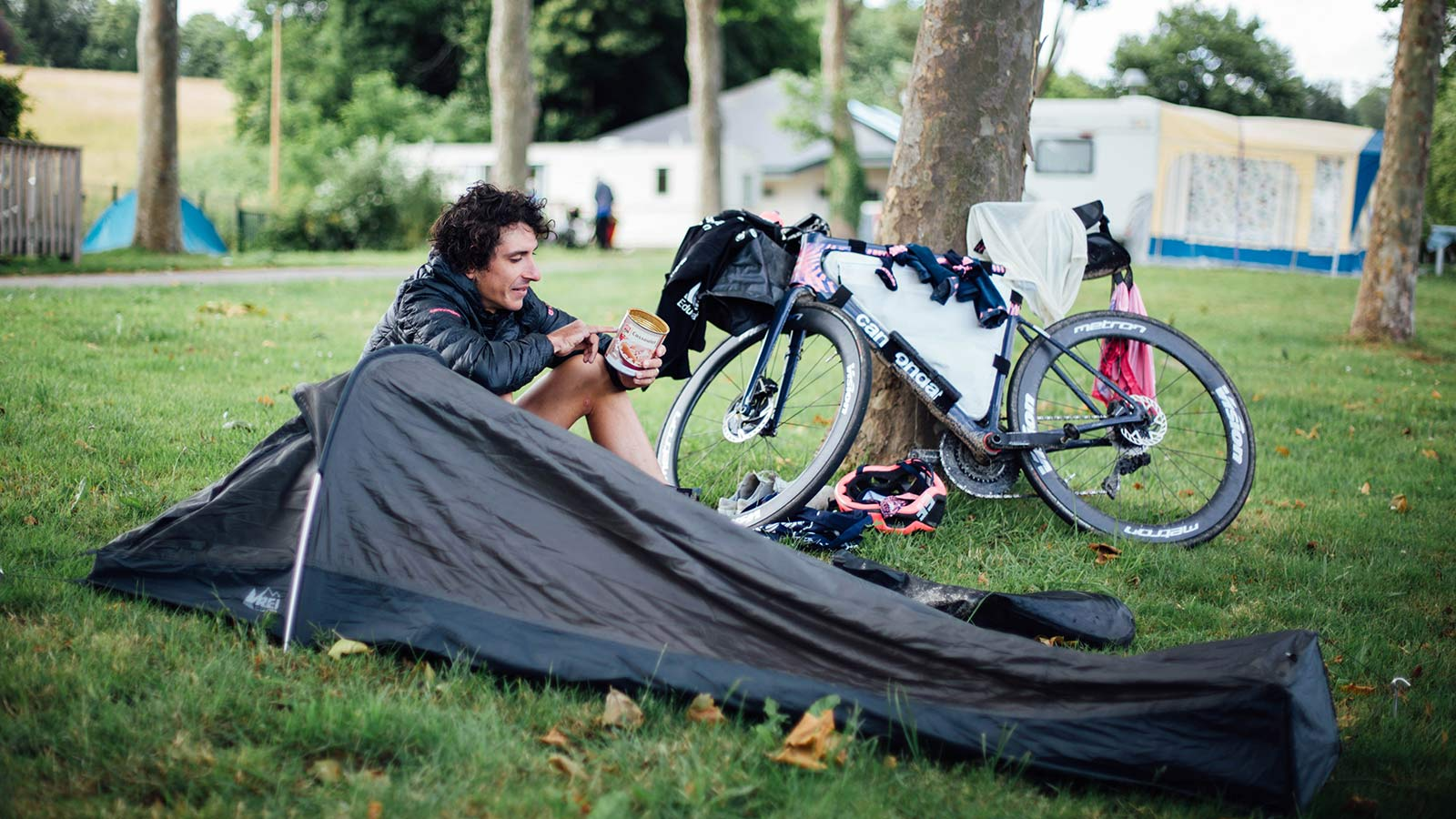 Lachlan Morton Alt Tour de France_ultra distance bikepacking charity ride, photo by Rapha, Day2