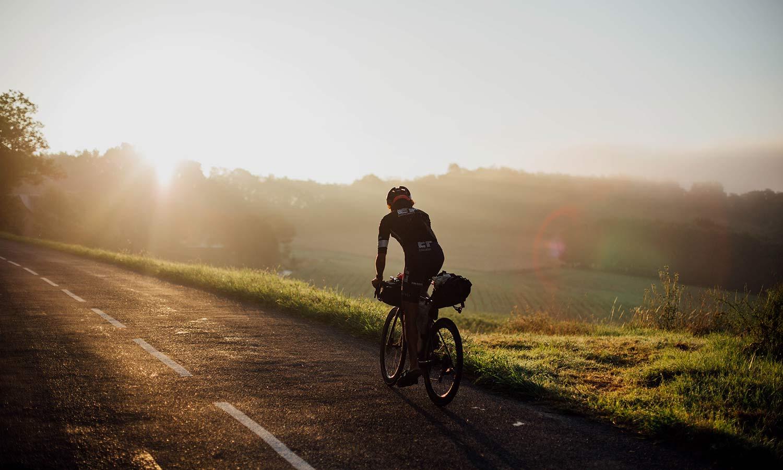 Lachlan Morton Alt Tour de France_ultra distance bikepacking charity ride, photo by Rapha