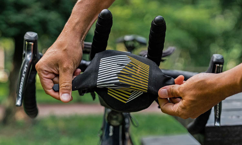 Apidura Racing Aerobar Pack out-front aero bar extension bikepacking bag, front