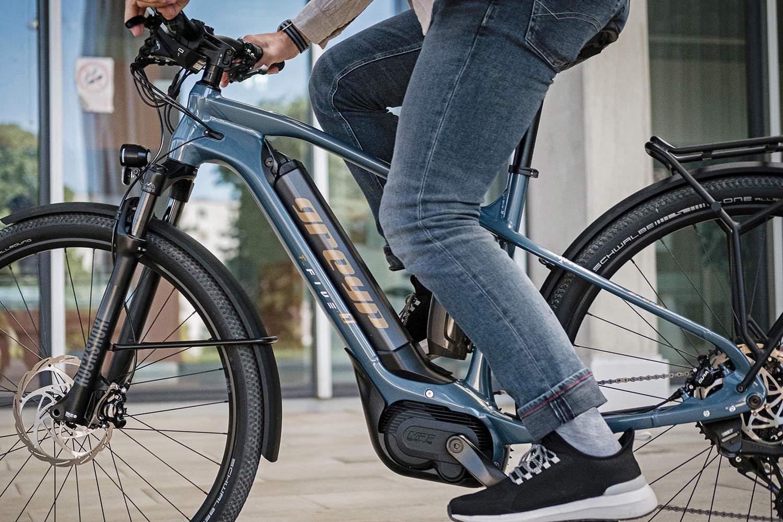 Greyp T5 alloy trekking e-bike hardtail eSUV commuter frame detail