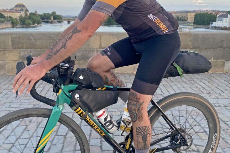 Miss Grape Road packs Review: lightweight Italian bikepacking bags for faster adventure rides, Prague