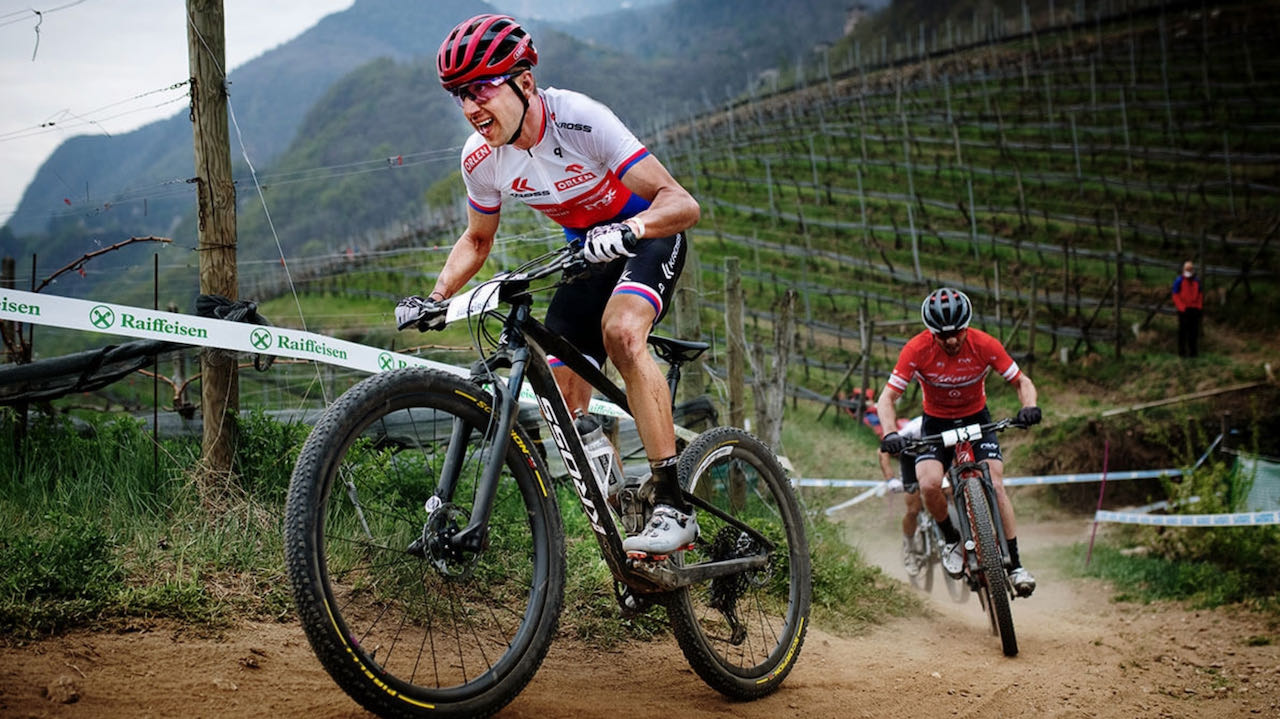 Ondřej Cink racing uphill