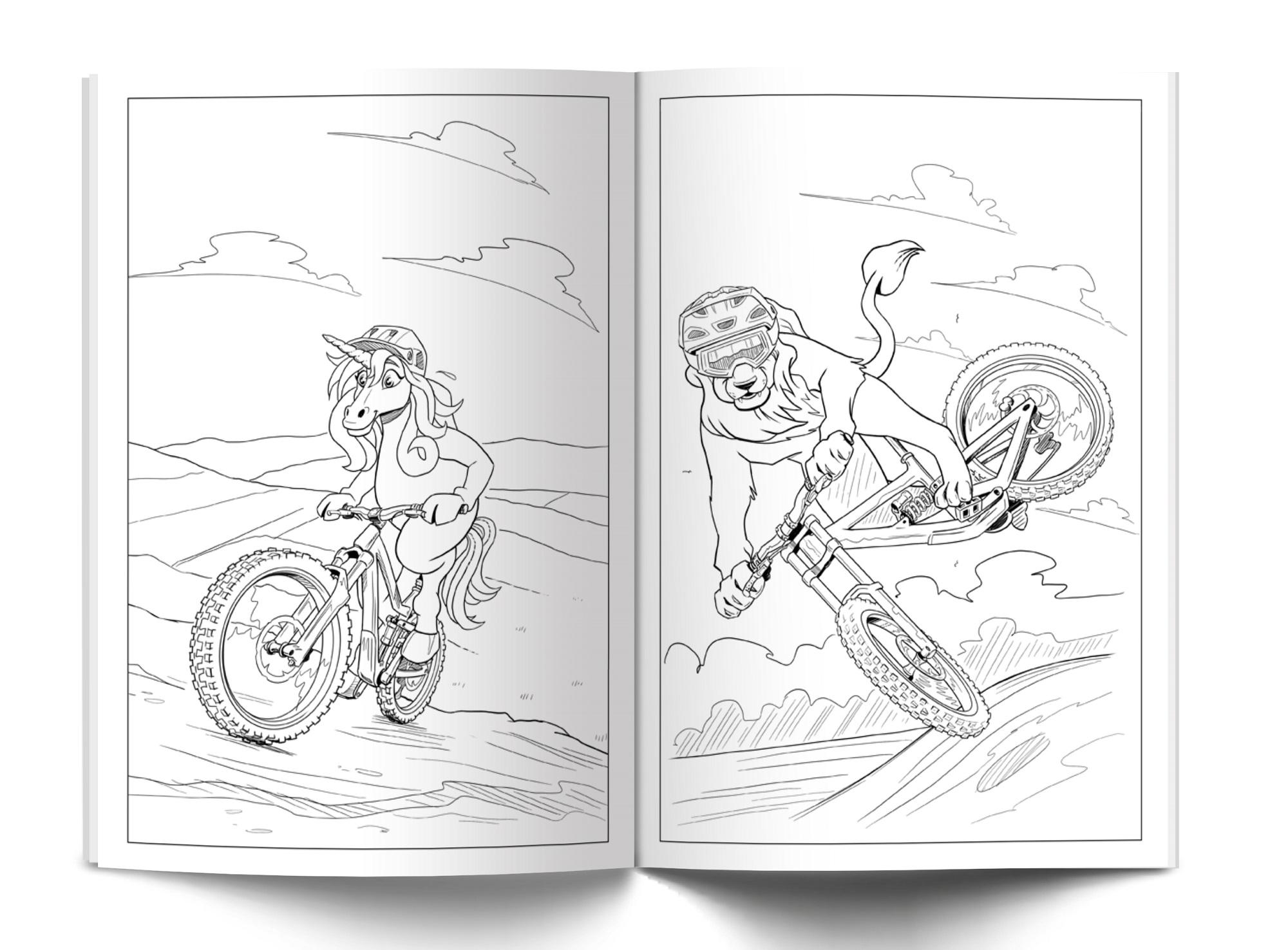 mountain bike coloring book