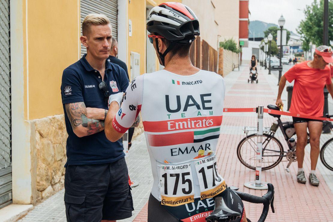 Tour de France UAE Team Emirates Performance Coordinator John Wakefield
