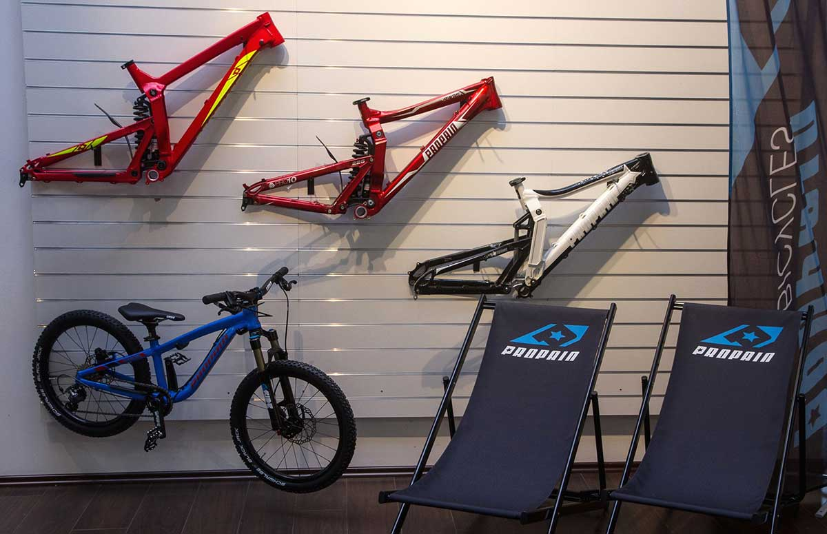 early propain rage al frame shock behind seat tube wall hanging propain hq germany