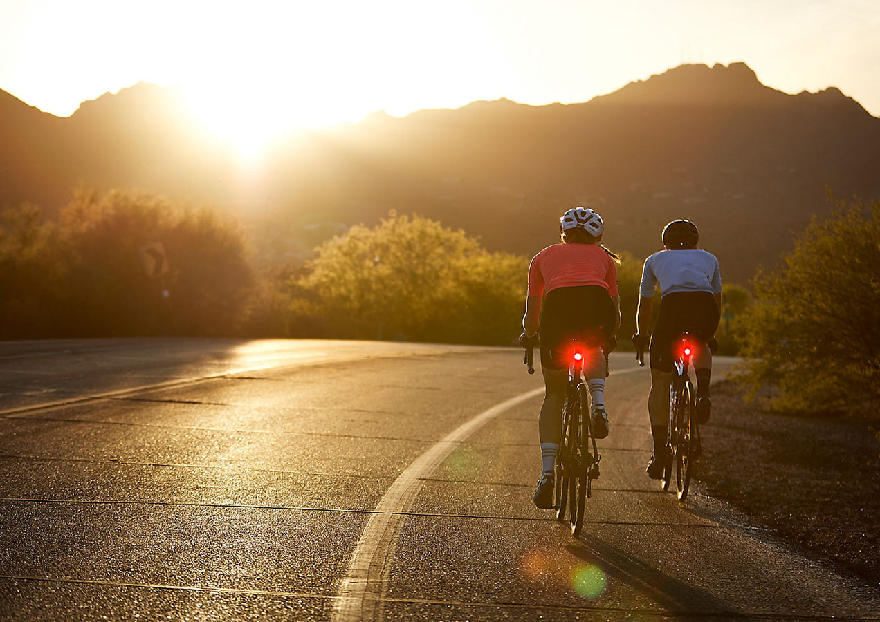 bontrager rear bike lights make cyclists more visible to drivers