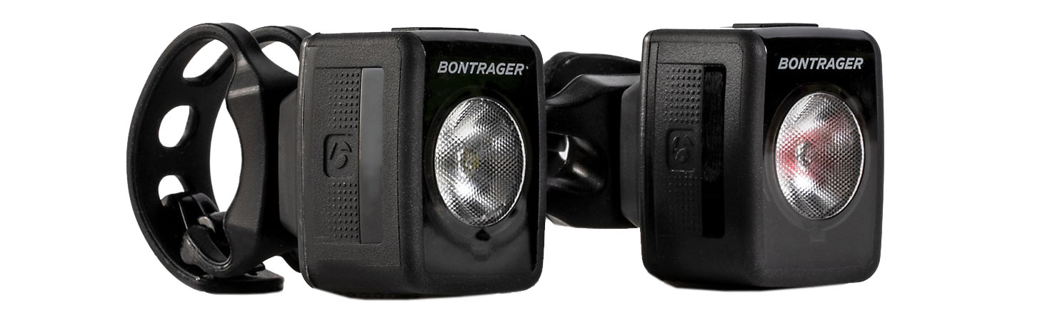 bontrager flare 200 and ion rt are the lightest bike lights for road cyclists