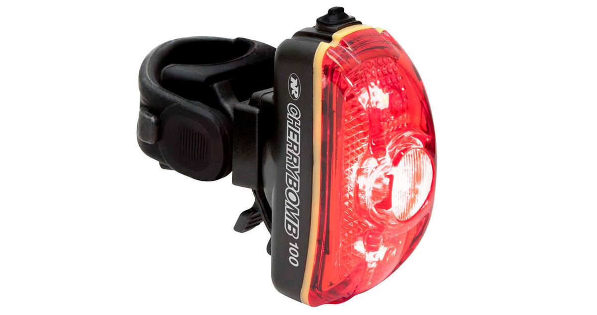 niterider cherrybomb 100 bicycle taillight with wild flashing patterns