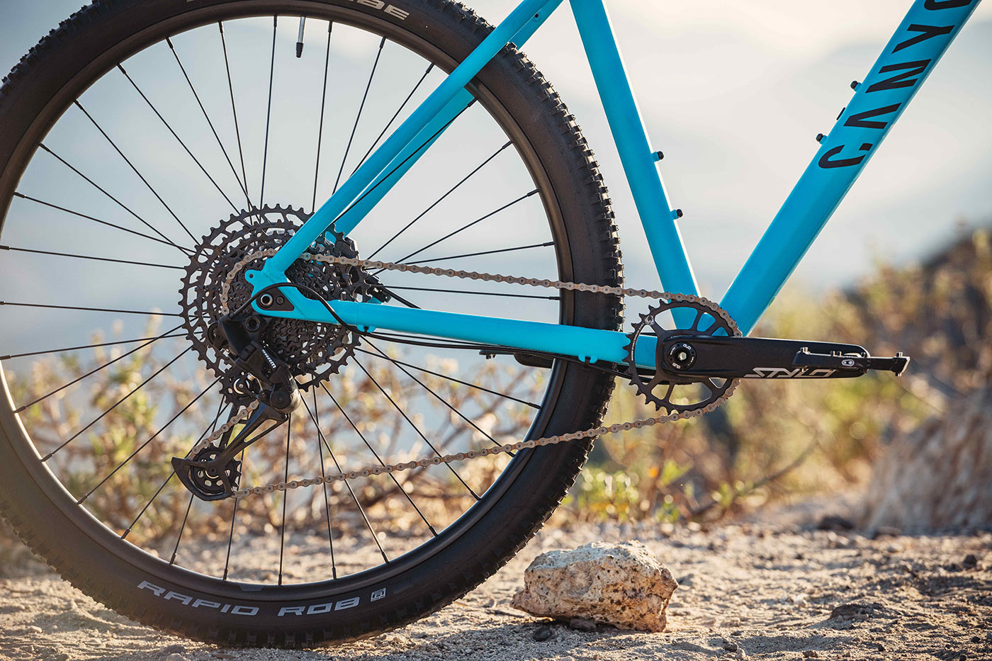 2021 canyon grand canyon hardtail mountain bike drivetrain closeup