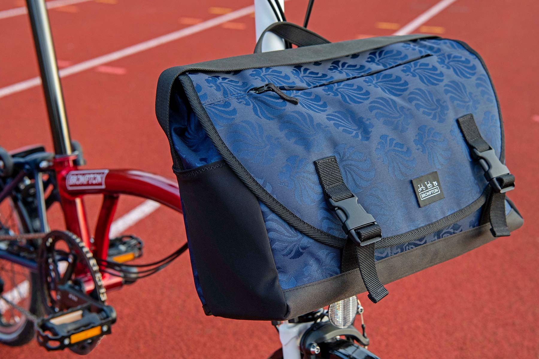 Brompton x Team GB folding bike, Tokyo 2020 Olympic limited edition, messenger bag