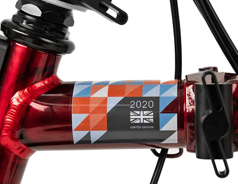Brompton x Team GB folding bike, Tokyo 2020 Olympic limited edition, frame detail