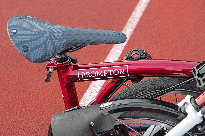 Brompton x Team GB folding bike, Tokyo 2020 Olympic limited edition, folded detail