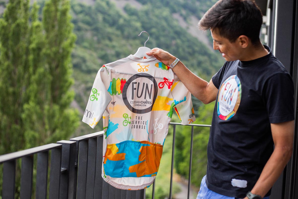 Cycling jersey inspired by kids