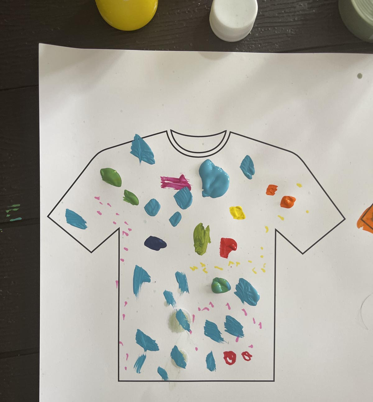 kids artwork inspired cycling jersey