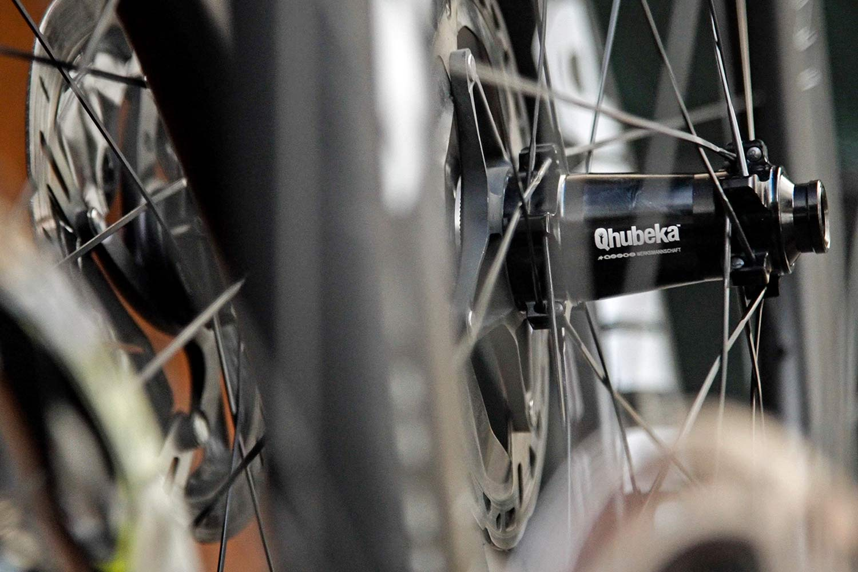 Qhubeka x Hunt 54 Aerodynamicist Carbon Disc wheels, Tour de France-raced tubeless carbon aero road wheels for charity, customized Sprint Disc hub