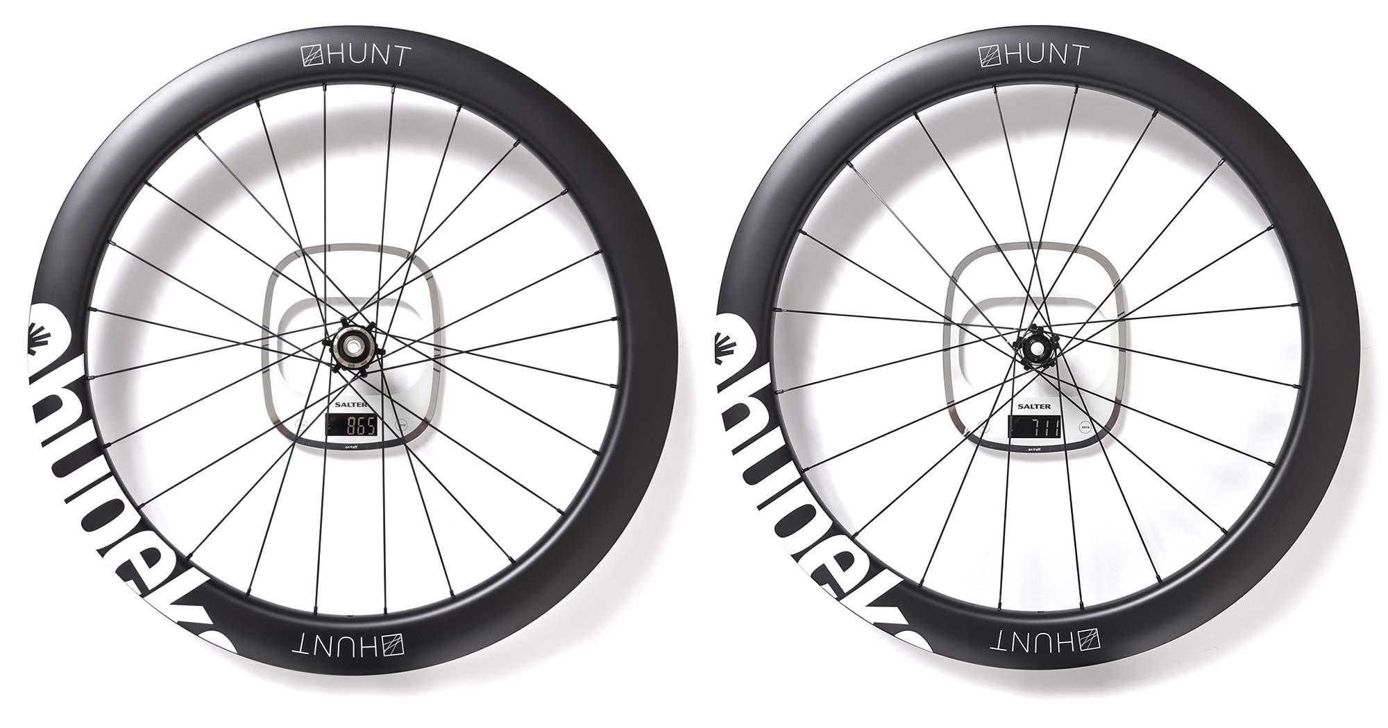 Qhubeka x Hunt 54 Aerodynamicist Carbon Disc wheels, Tour de France-raced tubeless carbon aero road wheels for charity, 1576g actual weight