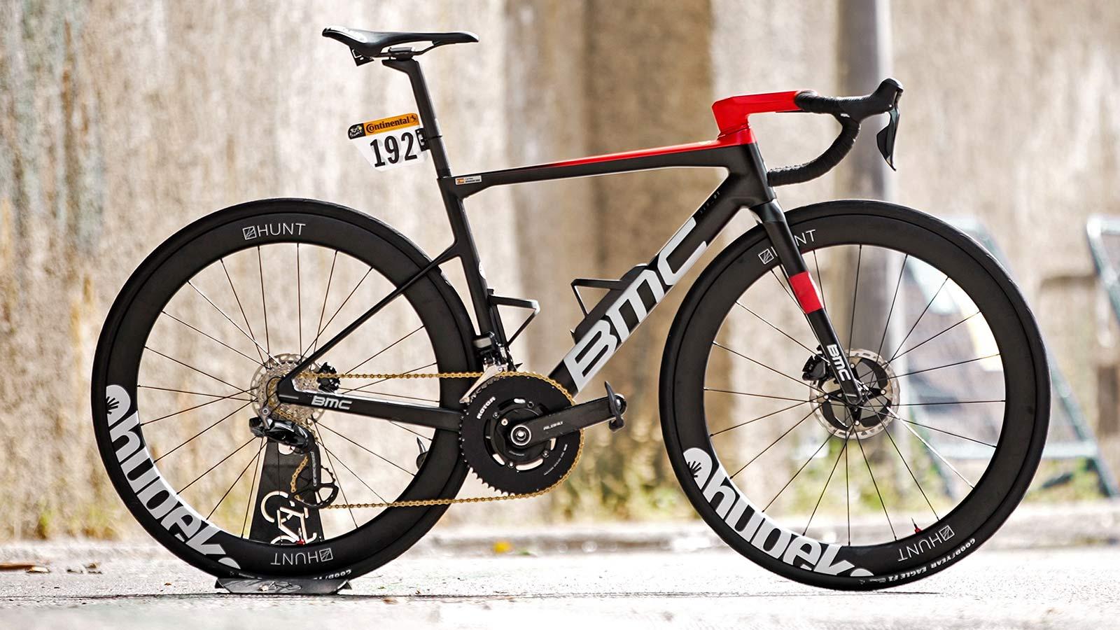 Qhubeka x Hunt 54 Aerodynamicist Carbon Disc wheels, Tour de France-raced tubeless carbon aero road wheels for charity, team bike